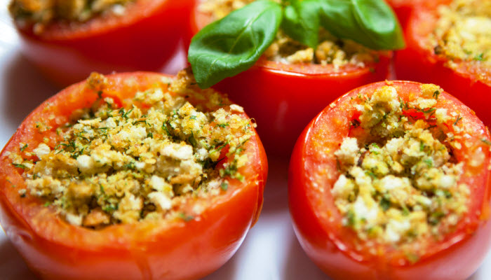 stuffed tomatoes from The Jewish Kitchen