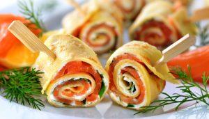 Shavuot Buffet Menu as seen on The Jewish Kitchen website