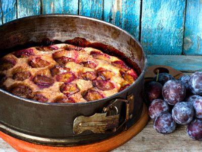 purple plum torte from The Jewish Kitchen