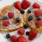 heart shaped pancakes from The Jewish Kitchen