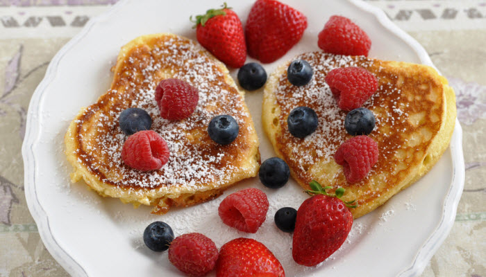 Valentine's Day recipes - Heart-Shaped Pancakes