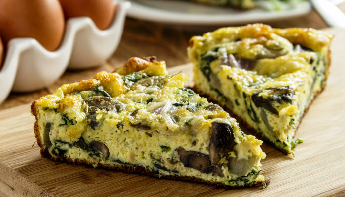 Swiss, Spinach and Mushroom Quiche