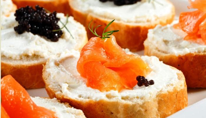 Smoked Salmon and Caviar Toasts