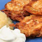traditional potato latkes from The Jewish Kitchen