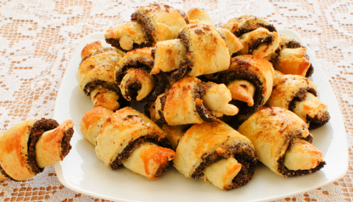 Chocolate Chip and Cherry Rugelach