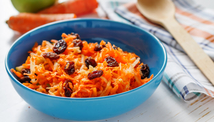 carrot and raisin salad from The Jewish Kitchen