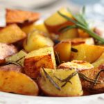 oven roasted potatoes with rosemary and garlic from The Jewish Kitchen