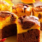 chocolate pumpkin brownies from The Jewish Kitchen