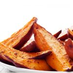 baked sweet potato fries from The Jewish Kitchen