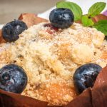 blueberry crumb muffins from The Jewish Kitchen