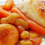 apricot roasted chicken from The Jewish Kitchen