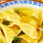 chicken soup with kreplach from The Jewish Kitchen