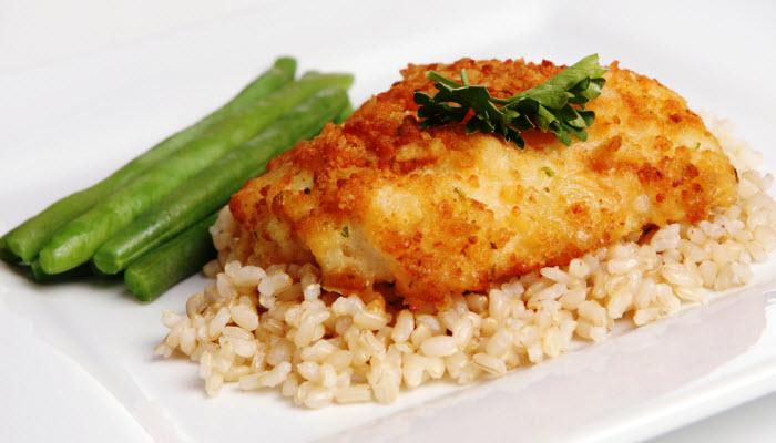 Fish with Potato Crust