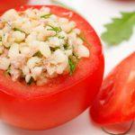 tuna stuffed tomatoes from The Jewish Kitchen
