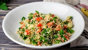 Couscous Spinach and Tomatoes