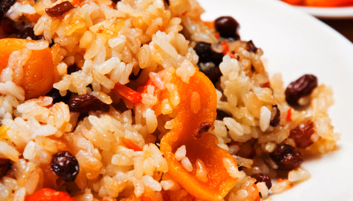 Rice Pilaf with Dried Cherries and Apricots
