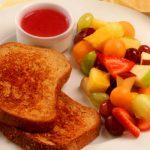 orange cinnamon french toast with strawberry sauce healthy optionfrom The Jewish Kitchen