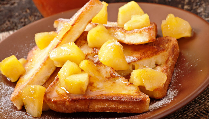 Apple Maple French Toast – Healthy Option
