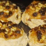 apple raisin and walnut danish from The Jewish Kitchen