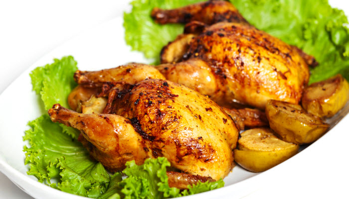 cornish hens with savory stuffing from The Jewish Kitchen
