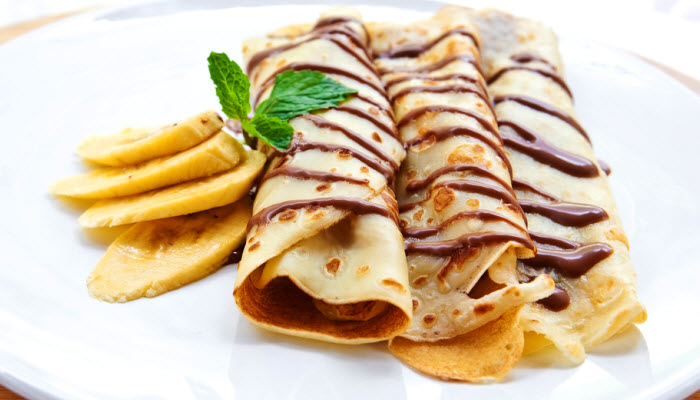 Banana Crepes with Dark Chocolate – Healthy Option