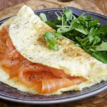 smoked salmon omelette from The Jewish Kitchen