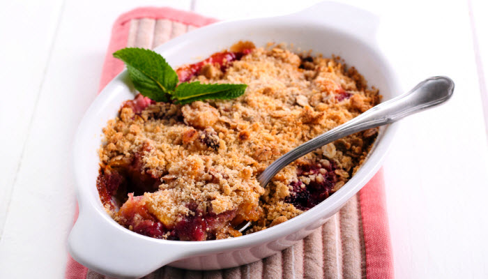 Peach Berry Crisp – Healthy Option