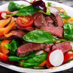 steak salad from The Jewish Kitchen