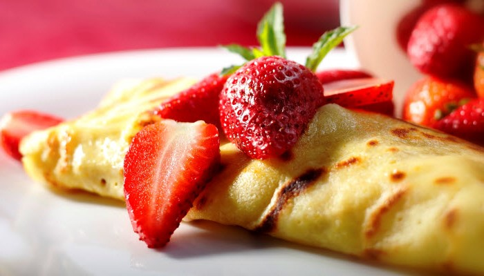 Strawberry Cheese Crepes – Healthy Option