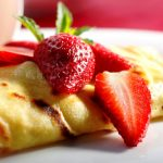 strawberry cheese crepes from The Jewish Kitchen