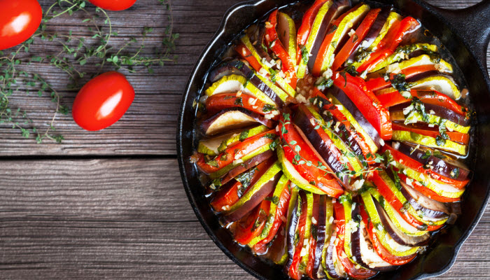 Baked Zucchini, Eggplant, and Tomatoes