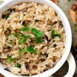 sauteed mushrooms and rice from The Jewish Kitchen