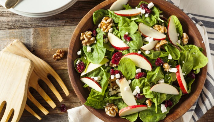 Salad with Fruit, Nuts and Cheese
