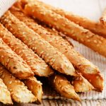 crunchy bread sticks with sesame seeds from The Jewish Kitchen