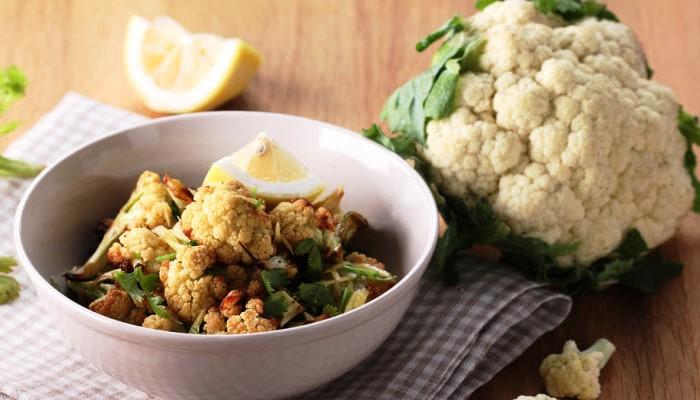 Roasted Cauliflower with Lemon and Garlic