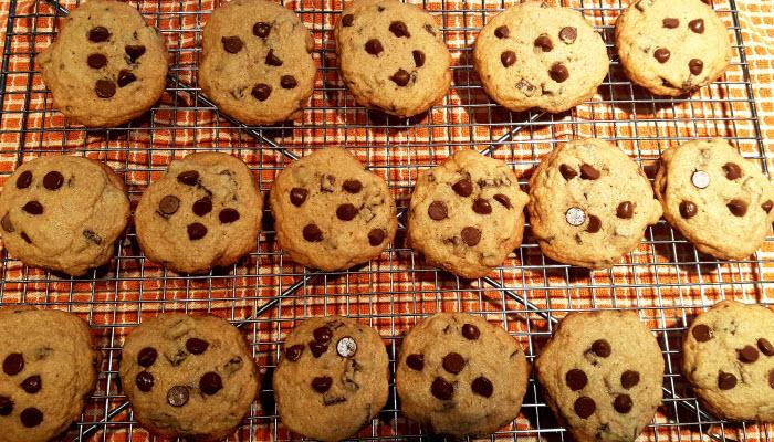 Kosher chocolate chip cookies from The Jewish Kitchen