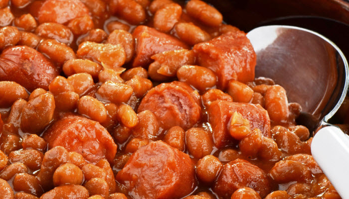 Old-Fashioned Franks and Beans