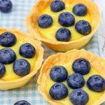 mini lemon cheesecake tarts from The Jewish Kitchen