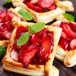 plum tarts with puff pastry from The Jewish Kitchen