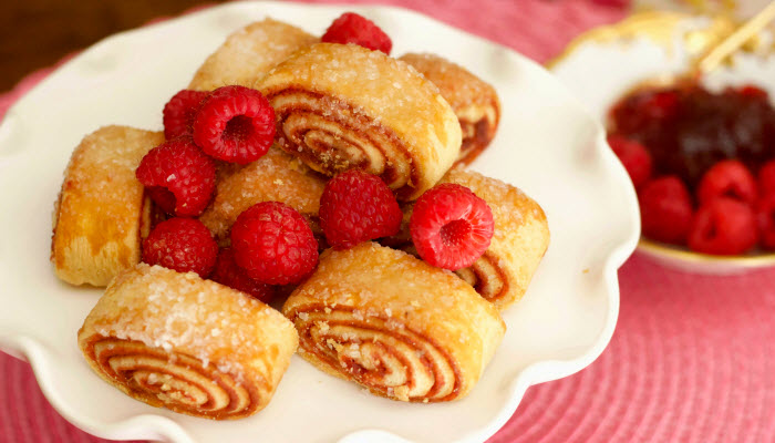 Sweet Raspberry Rugelach