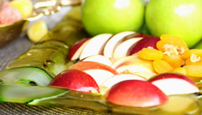 Festive Apples Glass Platter
