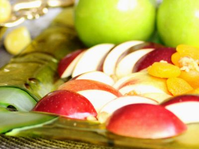 Festive Apples Glass Platter