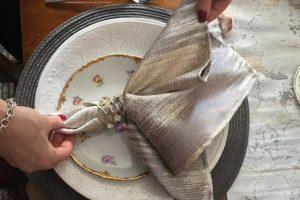 Gatsby woven sateen napkins