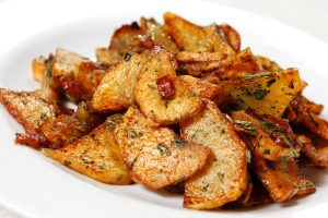 german pan fried potatoes from The Jewish Kitchen