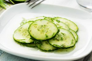 marinated cucumber salad from The Jewish Kitchen