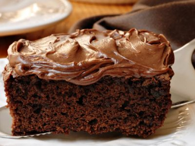 Nana's chocolate cake with fudge frosting
