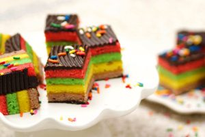 Rainbow Cookies from The Jewish Kitchen