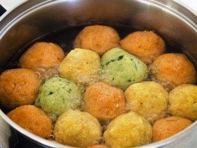 tri color matzoh balls