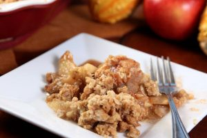 apple crisp from The Jewish Kitchen