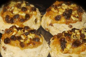 apple raisin and walnut danish